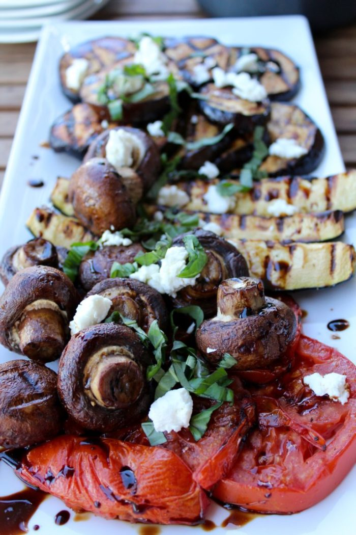 Grilled vegetables with balsamic glaze. Perfect for summer!
