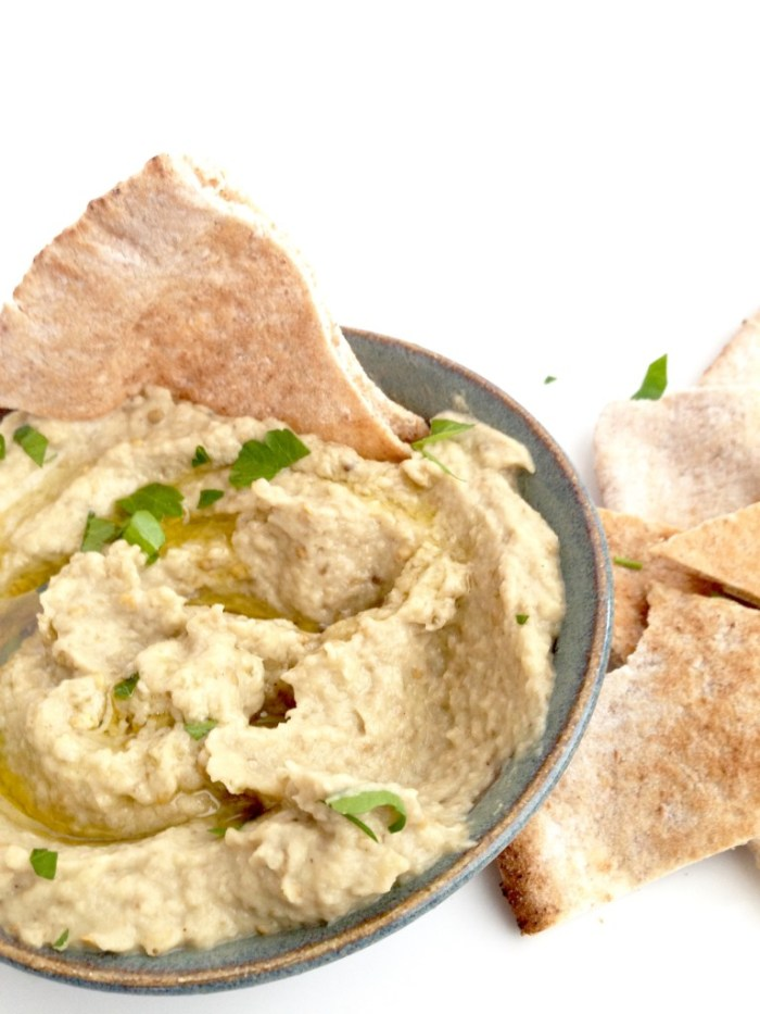 simple easy baba ganoush eggplant dip