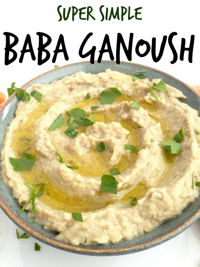 easy simple baba ganoush eggplant dip