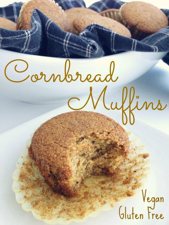 vegan gluten free dairy free moist sweet cornbread muffins