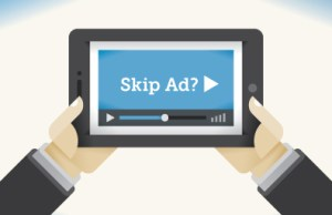 Consumer skipping ad on video
