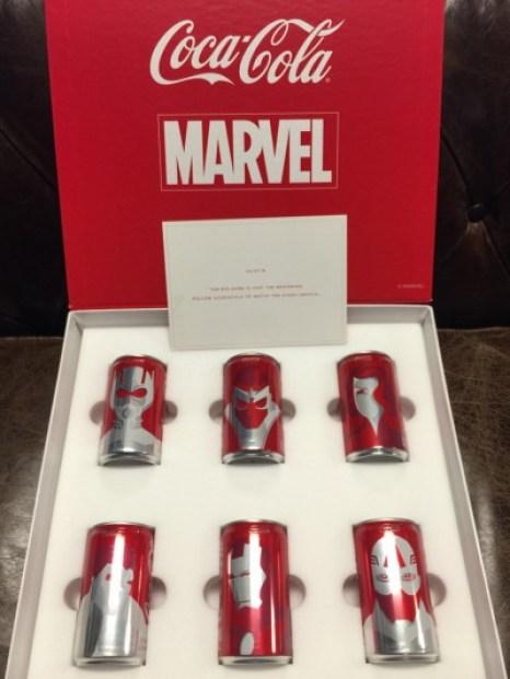 Las latas al estilo Marvel fueron enviadas a los medios de comunicación.