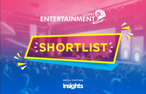 Cannes Lion 2017 shortlist entertainment