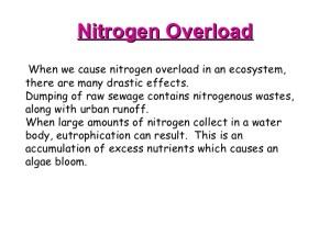 nitrogen overload