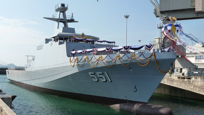High-speed-OPV-INS-Tarasa-launched-by-Indian-Navy