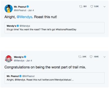 wendy's national roast day twitter screenshot