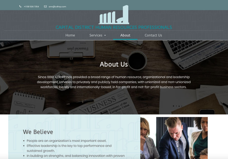 Professional Website Build home page design
