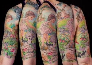 Colour-Dutch-Half-Sleeve-Tattoo-Insight-Tattoo-Renee-Lee