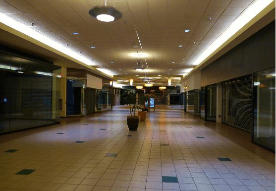 centre commercial vide