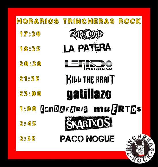 horarios-festival-trincheras-rock