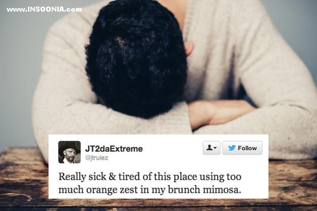 estou cansado deste lugar que usa muitas laranjas no meu suco matinal