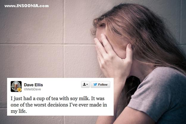 fui tomar um chá com leite de soja e isso foi a pior decisao da minha vida