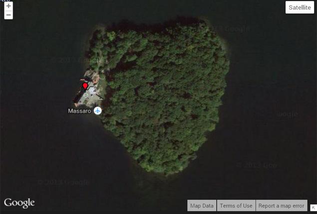 ilha formato coração