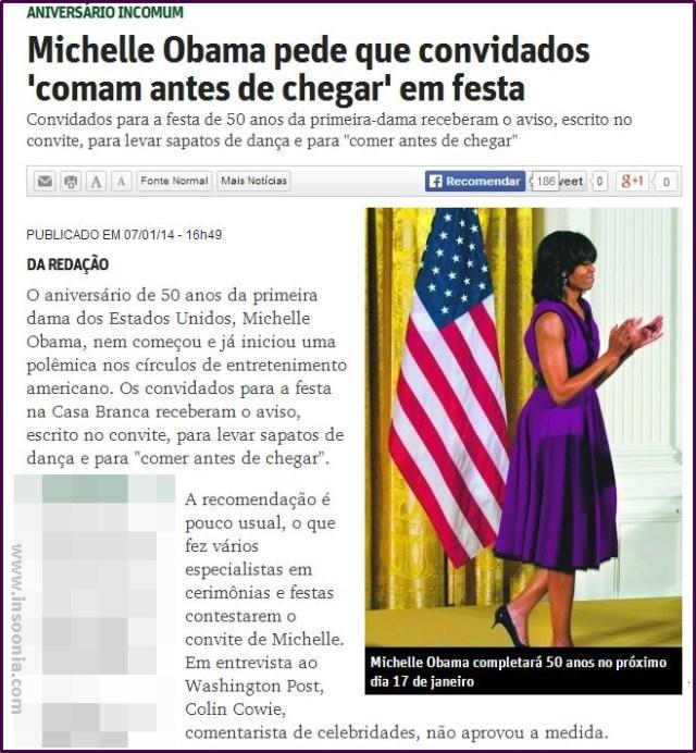 aniversário de Michele Obama