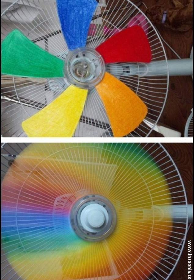 ventilador colorido