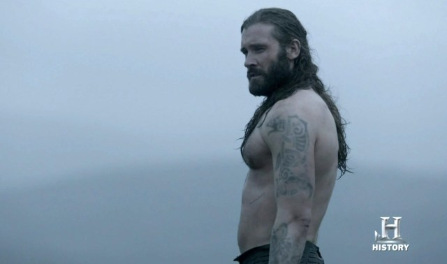 Alexander Ludwig and Clive Standen in Vikings Episode 2.08