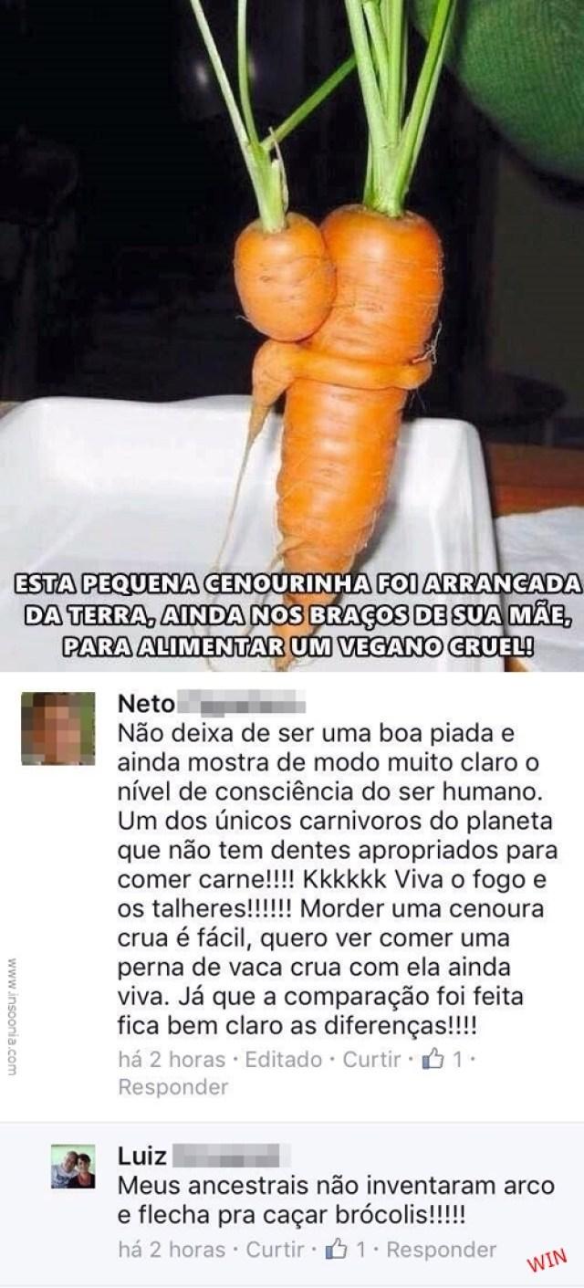 vegano VS carnívoro