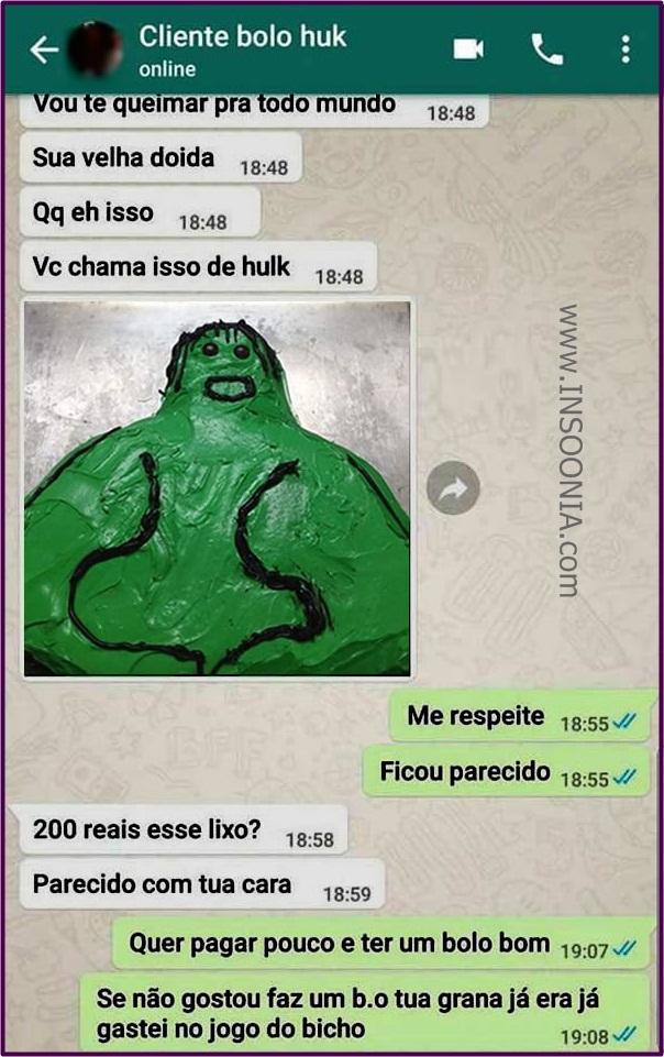 bolo do Hulk