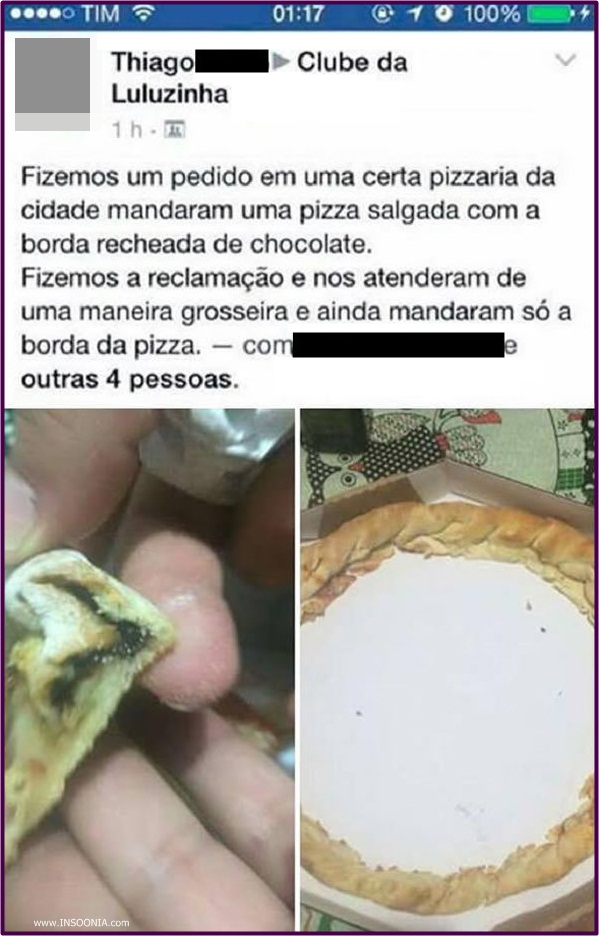 borda da pizza