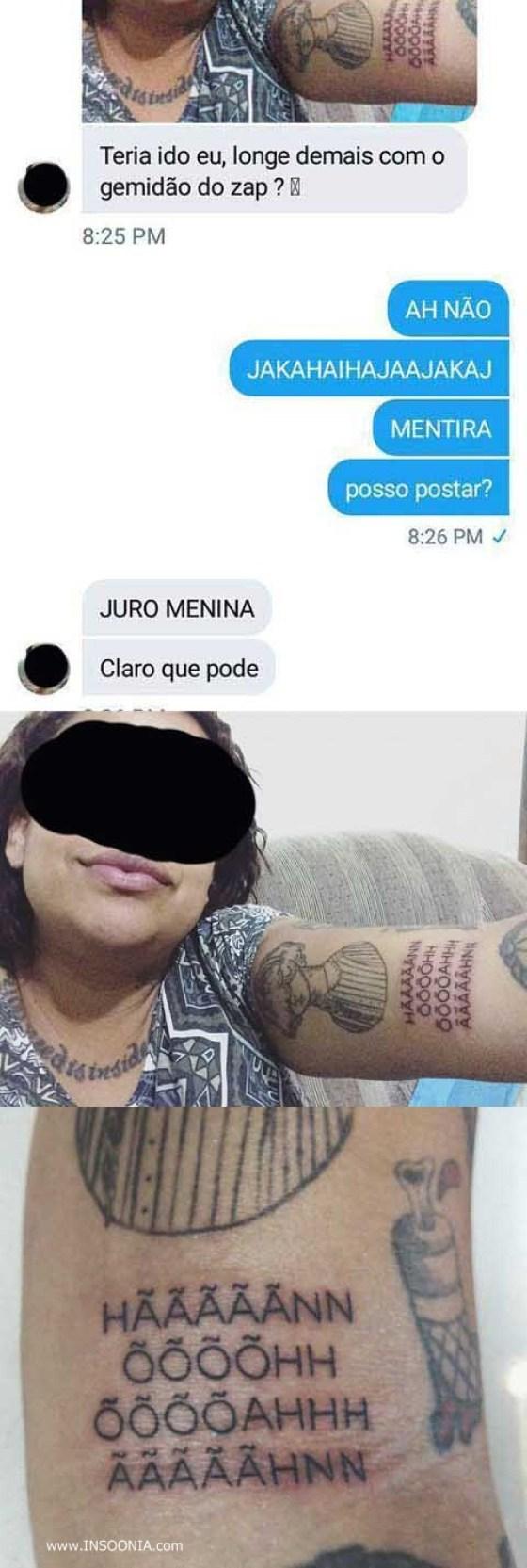 tatuagem gemidão do zap