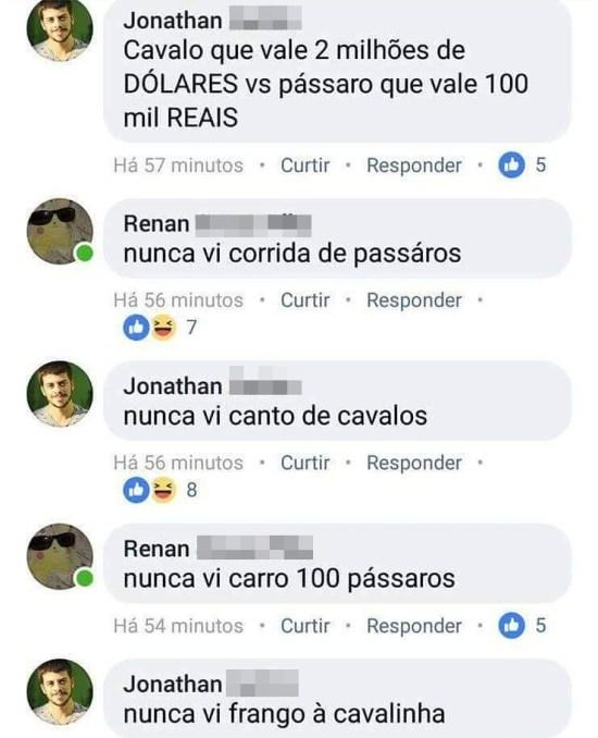 CAVALOS OU PÁSSAROS