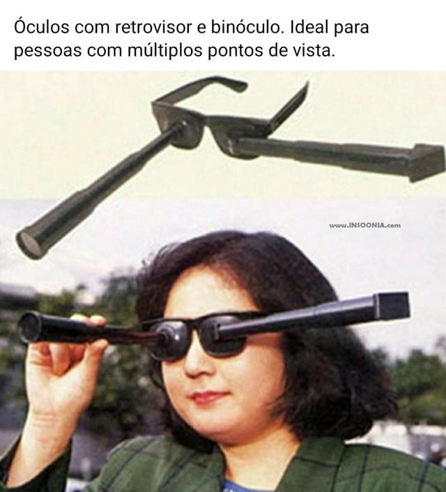 óculos com retrovisor
