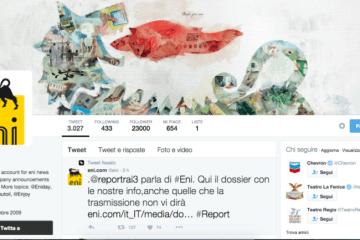 Eni in diretta su twitter si prende il contraddittorio con Report ed è storia della #socialtv.