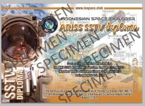 Specimen InSpacE - ISS (MAI-75) SSTV