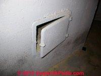 Chimney cleanout door inspect & repair