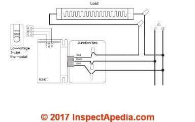 2 wire thermostat wiring diagram heat only 2004 club car 48 volt convert line voltage to low nest