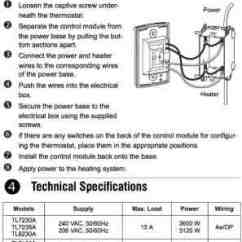 Electric Baseboard Heat Wiring Diagram Pioneer Premier Stereo Line Voltage Thermostats For Heating & Cooling