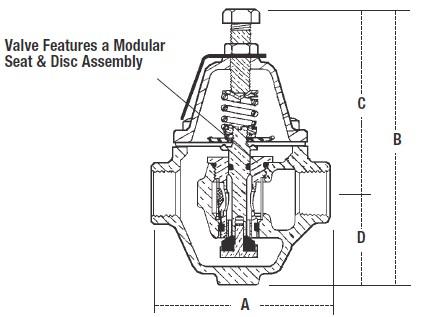 Water pressure reducing valve, water pressure regulator