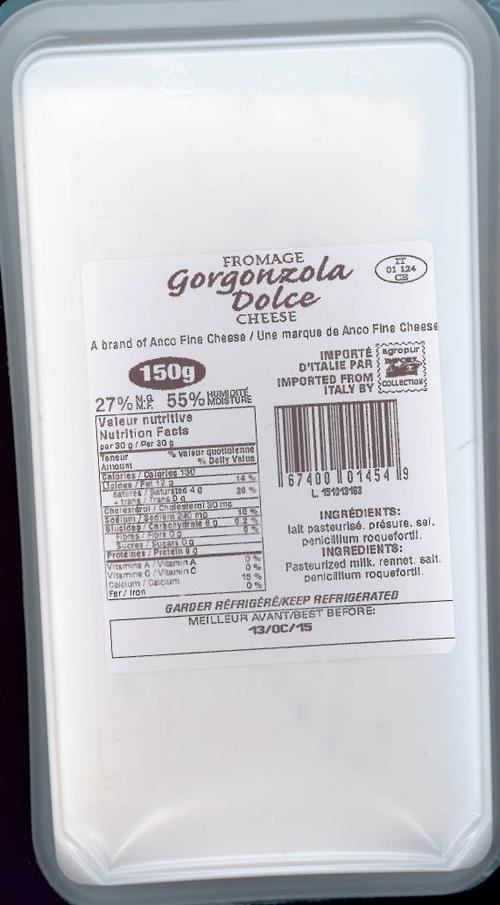 Il Villaggio brand Gorgonzola Dolce Cheese