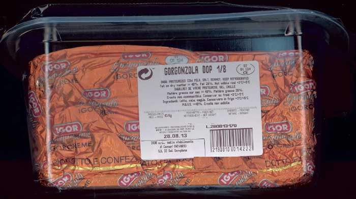 Gorgonzola Igorcreme - label