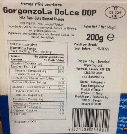 Igor - Gorgonzola Dolce DOP, 200 gram - label