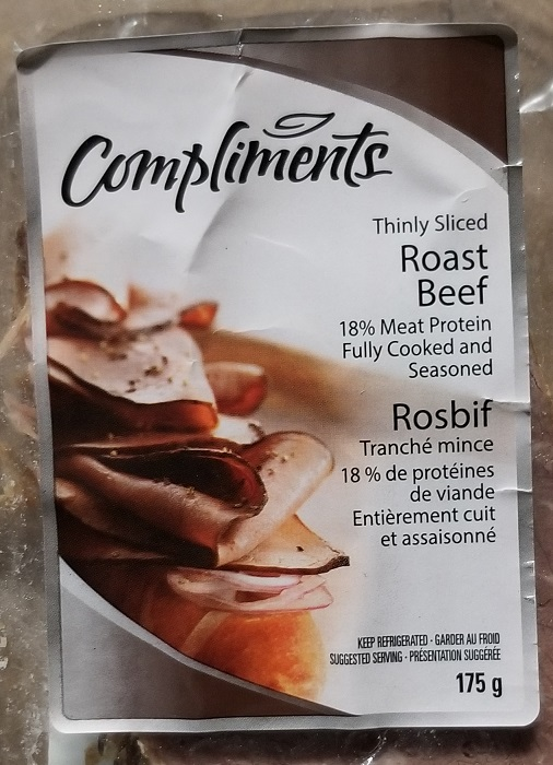 Compliments Roast Beef, 175 g - front