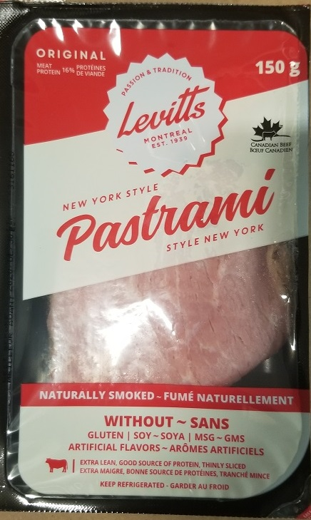Levitts New York Style Pastrami, 150 g - front