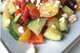 {Slump Busting} Marinated Greek Salad
