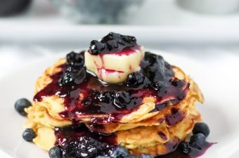 Chickpea Flour Pancakes 🥞 & Low Carb Blueberry Syrup! {Gluten Free & Grain Free}