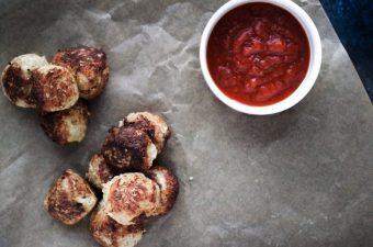 Like Cheese Curds But Betta: Cauliflower Crusted Feta Bites
