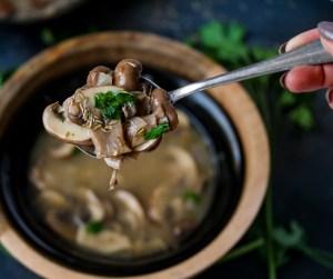 Hearty Portabella Mushroom Soup