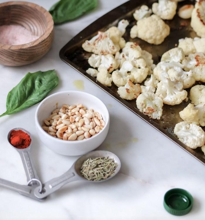 Roasted Cauliflower Garlic Soup w Fresh Thyme-0545