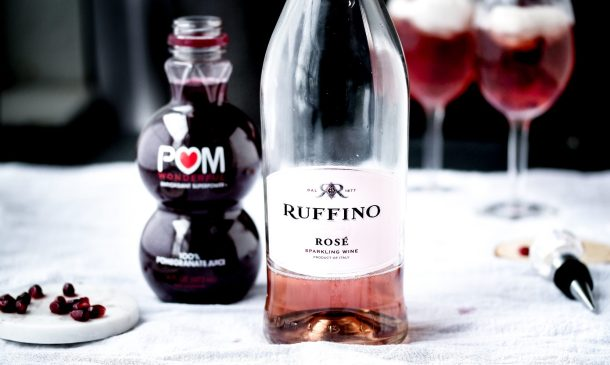 How To Be Your Own Damn Valentine! Drink This Pomegranate Rosé Fizz