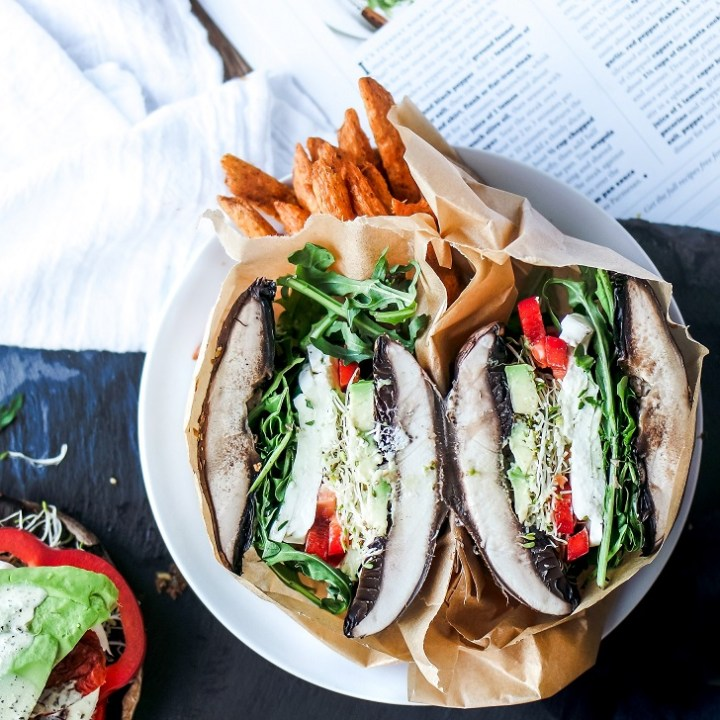 Portabella Mushroom Cap Burger Buns