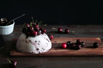 Dark Chocolate Cherry Ice Cream Cake Bomb Because Square Cakes Are Boring