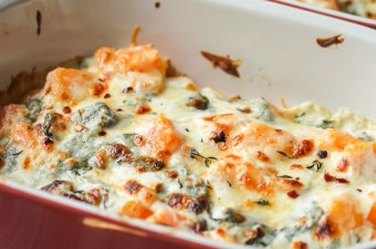 Creamy Six Cheese (maybe seven) Spinach & Butternut Squash Casserole
