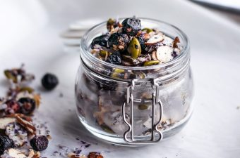 Simple Low Carb Blueberry Almond Granola