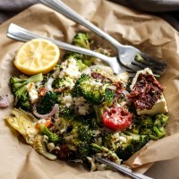 Smothered Greek Broccoli with Roasted Lemon
