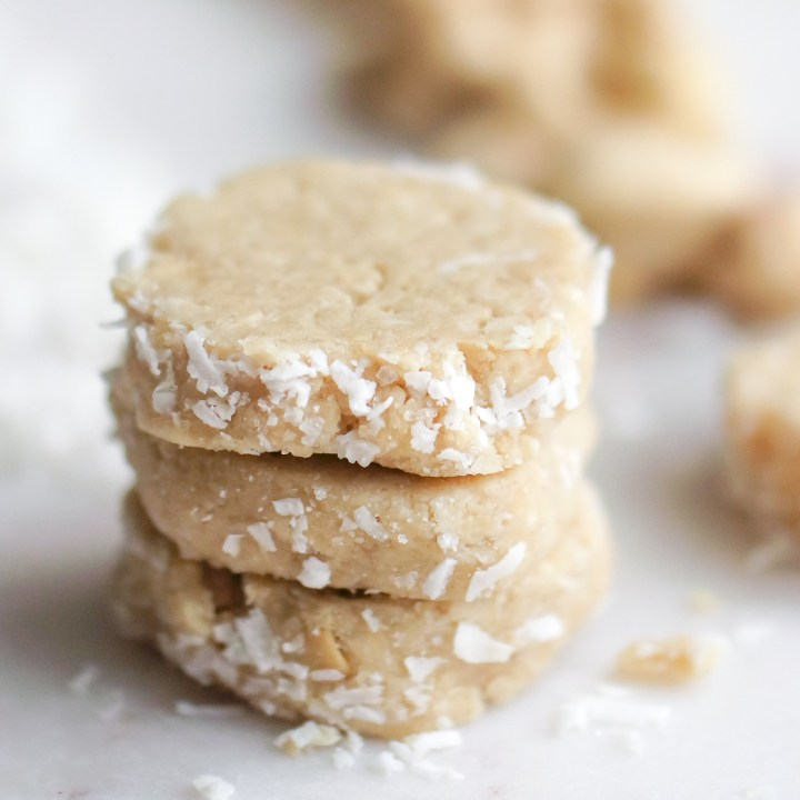 Three Ingredient No Bake Coconut Cashew Cookies