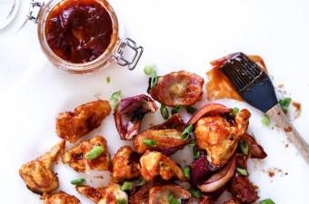 Low Carb BBQ Cauliflower & Sweet Onion Petals